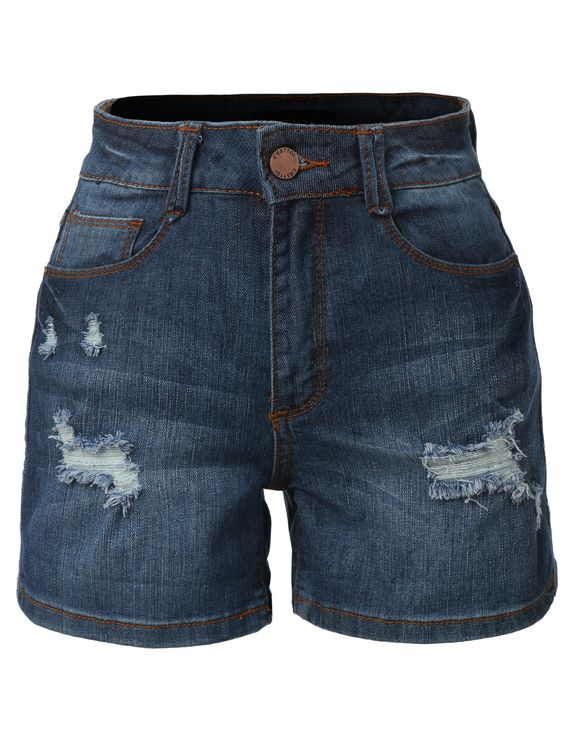 Womens Stretchy High Rise Denim Jean Shorts (CLEARANCE) | Products ...