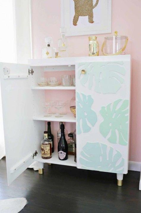 48 Coolest Ikea Living Room Hacks Ikea Ivar Cabinet Ikea Bar