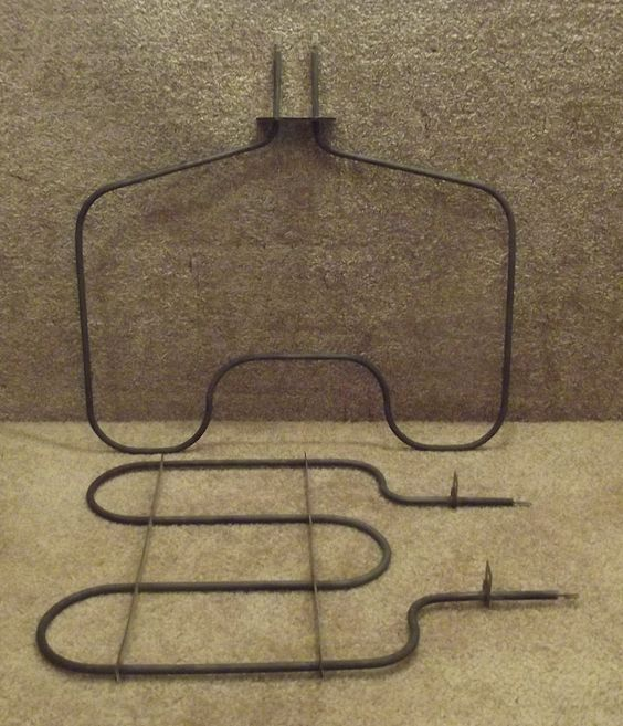 296119 296121 Whirlpool Range Oven Bake and Broil Element Set
