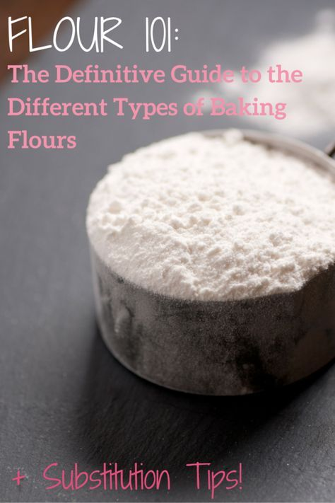 Baking Basics: Flour 101 - The Definitive Guide to the Different Types of Baking Flours... Everything you need to know, plus tons of substitution tips!