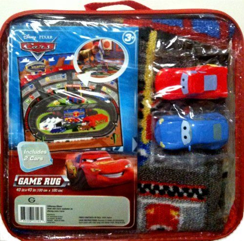 $44.00 Disney Pixar Cars Racing Arena Game Rug with 2 Cars From Disney Get  it here