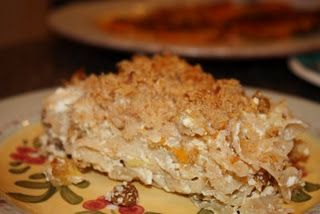 Sweet Noodle Kugel  Recipe adapted from Paula Deen & Friends