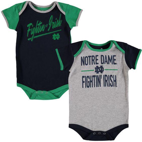 Notre Dame Fighting Irish Newborn   Infant Descendant 2-Pack Bodysuit Set -  Navy  05741696402a