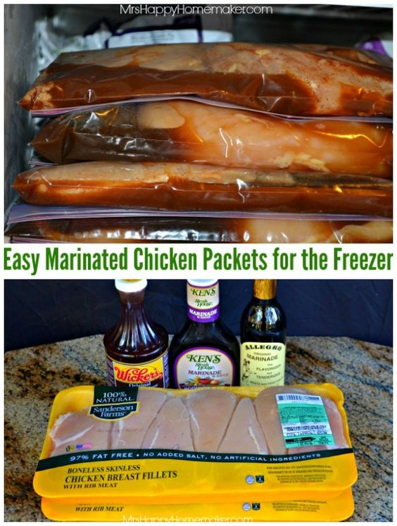 Easy Budget Friendly Spring Decorating: These Easy Marinated Freezer Chicken Packets Are Super