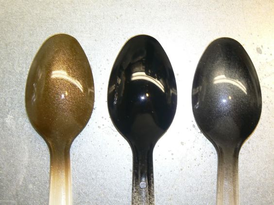 Left Rust Oleum Antique Brass Metallic Over A Gray