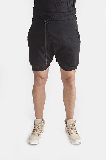 P10-F092 Black Pants by BBS Spring/Summer '15