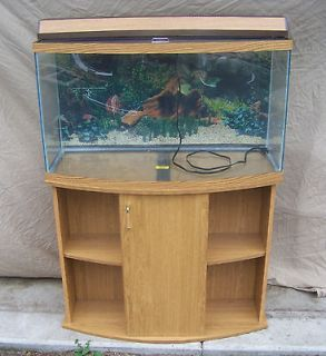 55 gallon bow fish tank   46 gallon Bow Front Fish Tank Complete set up 29 30 46 55 75 90 125