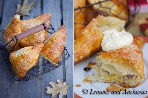 Banana Turnovers with Pastry Cream