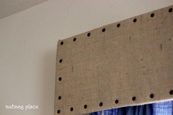 Burlap Cornice Board