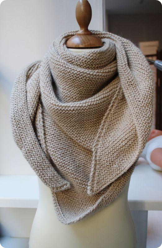 tricoter un trendy chale