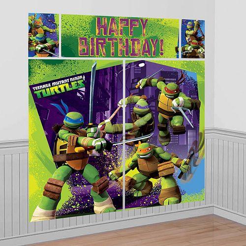 Teenage Mutant Ninja Turtles Scene Setter Party City Teenage Mutant Ninja Turtles Party Mutant Ninja Turtles Party Ninja Turtle Party Supplies