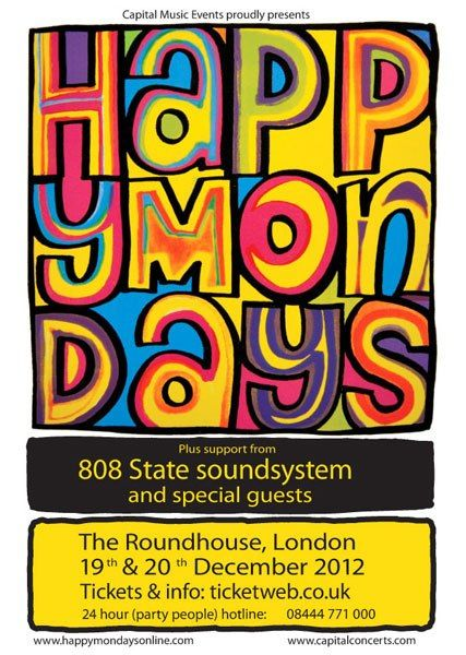 happy mondays london 2012 (The Original Line up!!!)