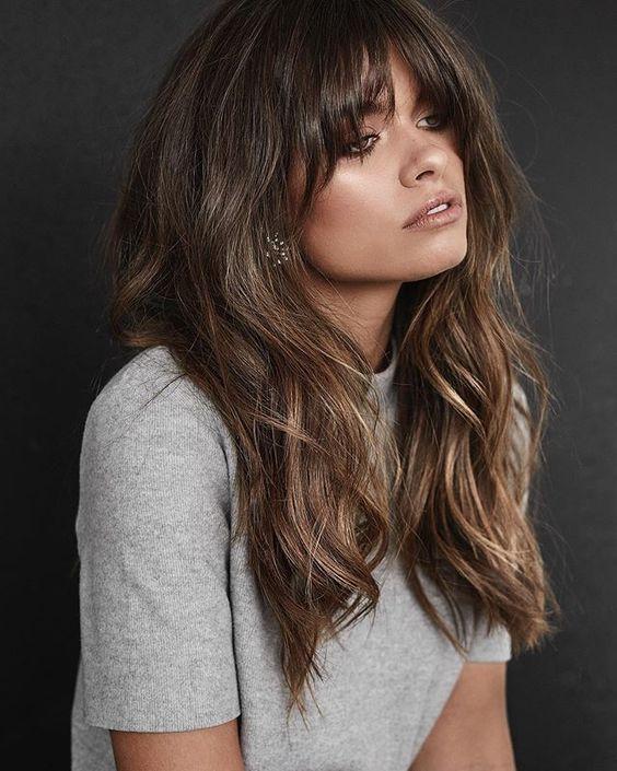 Длинный волос укладка чёлка стрижка тренд
