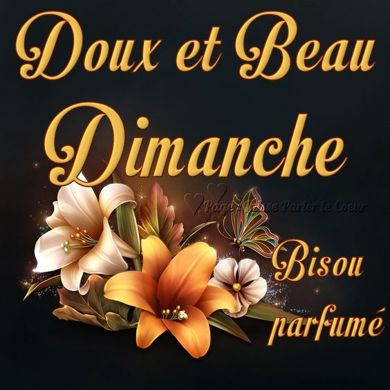 Doux et Beau Dimanche, Bisou parfumé #dimanche fleur lys papillon paillettes bisou