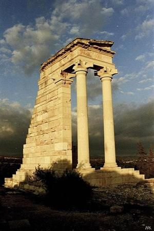 Ruins in Cyprus, the temple of Apollo.