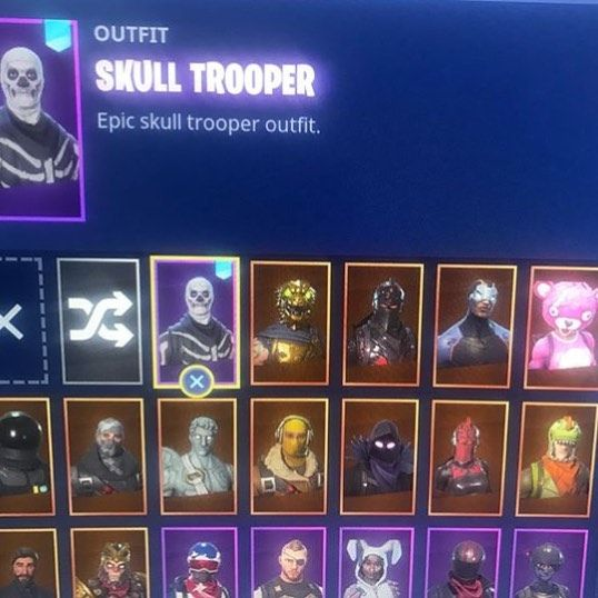 Another Skull Trooper Acc W Alot Of Skins And Reaper Picaxe Dm Me If You Want To Buy I Dont Gi First Must Pay First Skulltrooper Skulltrooperforsale Fortnite