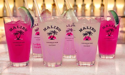 Summer and Malibu Rum Fruit Drinks!