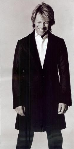 Jon Bon Jovi .....help, I need a fan.  Those crisp white shirts and long black trench coats get me every time ♥♥♥