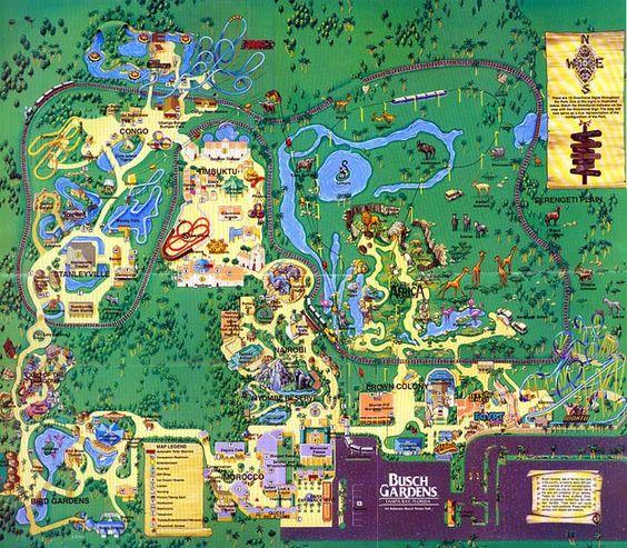 Busch gardens williamsburg map Busch Gardens Williamsburg