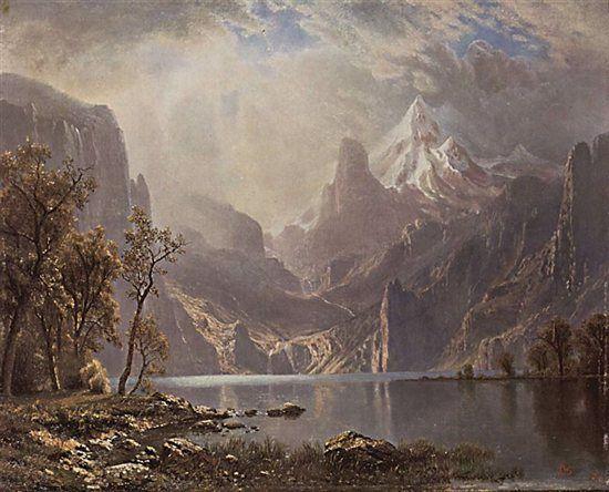 Lake Tahoe by Albert Bierstadt, 1868.