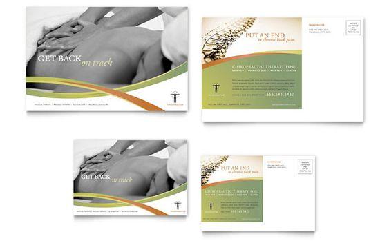 Reflexology & Massage Postcard Template   Design Layouts ...