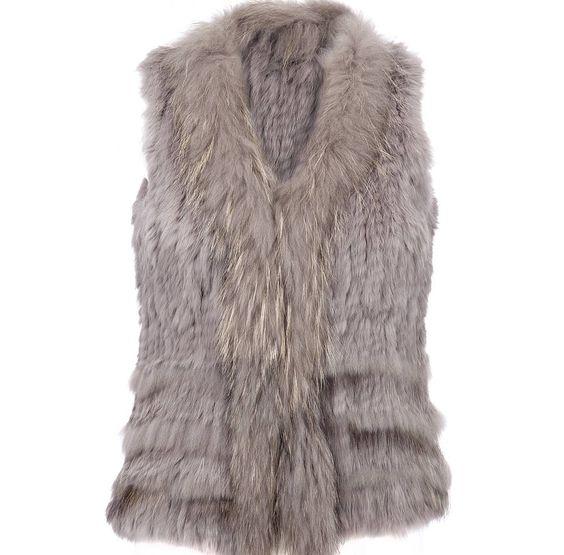 rabbit fur gilet by liz price   notonthehighstreet.com