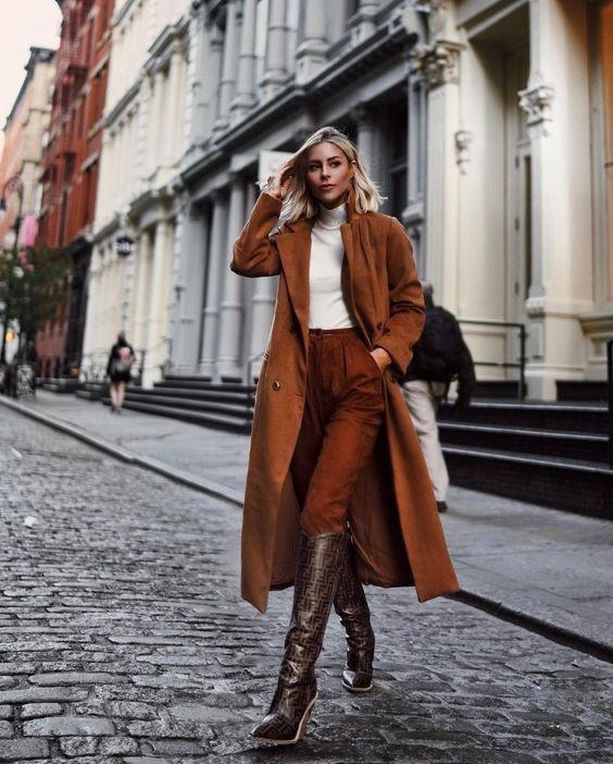 Шоколадная осень: 20 уютных образов в коричневом цвете   Новости моды