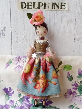 Magpie & The Wardrobe: Tiny flutterby fairies made from papier maché and antique French linen filled with lavender. Our fairies, each one hand-painted are dressed in vintage fabric ballgowns and adorned with antique and vintage flowers. Each fairy is completely and utterly unique and comes in a handmade box with wand. A bespoke service is available, please email for details.