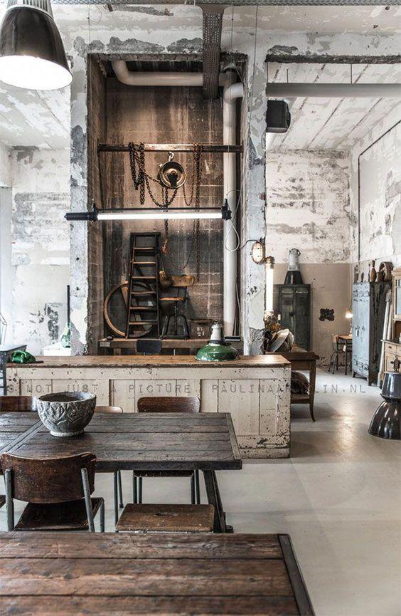 Photos : comercial Decor industrial Style #rusticloft