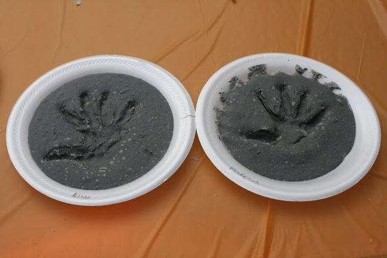 Fossil handprints