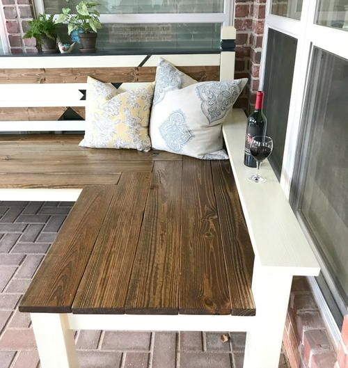 L Shaped Diy Outdoor Bench Diy Bench Outdoor Diy Wood Bench Wood Bench Plans