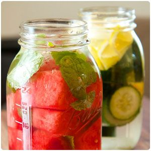 detox water, electrolyte energy drink and sleepy time drink - all natural
