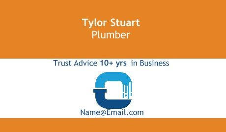 Plumber design business cards plumbing construction business card plumber design business cards plumbing wajeb Image collections