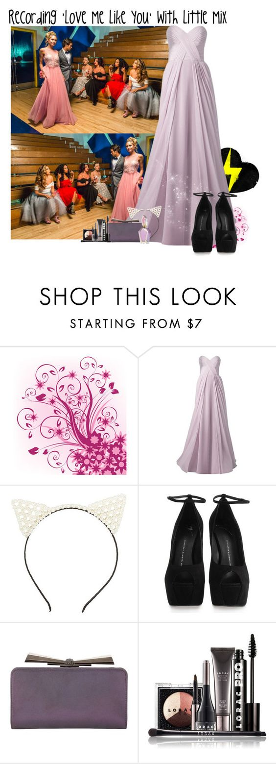 """""""Recording 'Love Me Like You' with Little Mix"""" by giovannacarlamalik ❤ liked on Polyvore featuring Mode, Charlotte Russe, Giuseppe Zanotti, Judith Leiber und LORAC"""