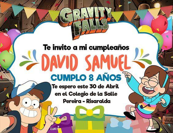 Invitaciones Para Una Fiesta De Gravity Fall Invitaciones