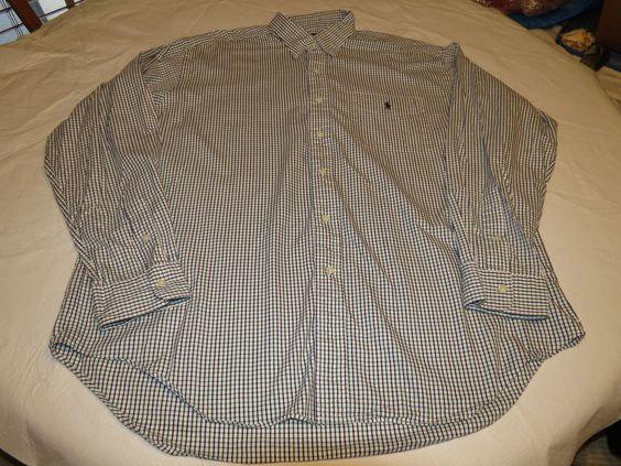 Mens Ralph Lauren XL Barlett button up shirt long sleeve plaid cotton EUC@ #RalphLauren #ButtonFront
