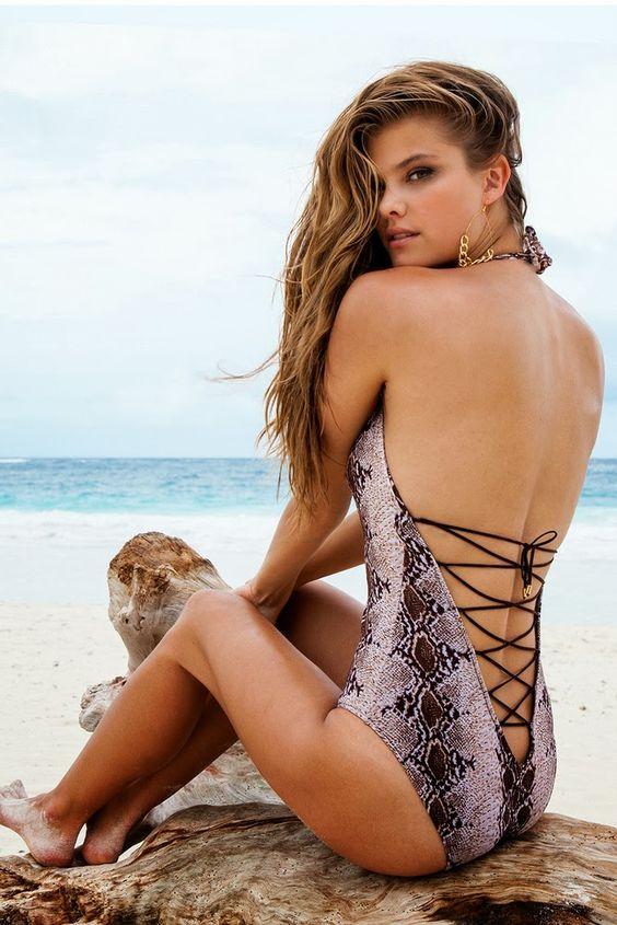Dutch supermodel Nina Agdal for Sauvage Resort 2014 ...