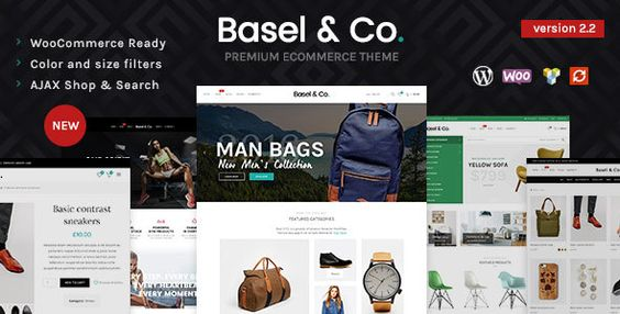 Basel - Responsive eCommerce Theme BASEL is a professional minimalist AJAX responsive theme built to create modern powerful e-commerce web-site. Using popular Drag & Drop page builder, a lot of theme settings and options, premium sliders and WooCommerce, you are able to create heavy store that looks perfect on any screen resolution. The theme is suitable for any kind of shop like cloth, electronics, furniture, accessories, flowers or any other.