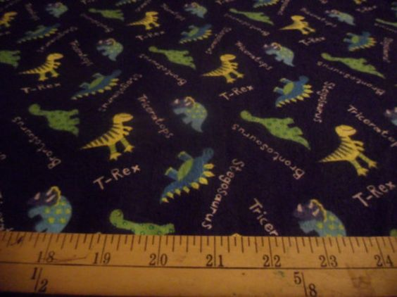 Dinosaur Flannel Fabric by simplysweetnsassy on Etsy, $3.95