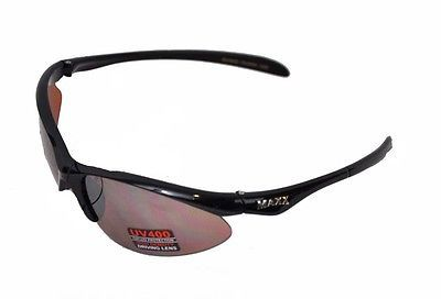 Maxx Sunglasses Rookie Black Frame Amber Polycarbonate Lenses