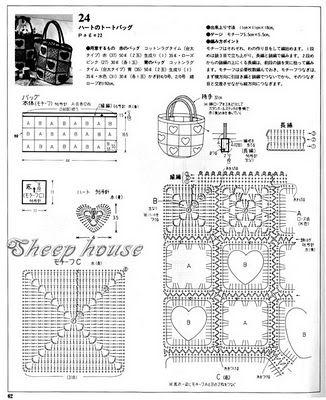 Crochet quare bag : Sacolinha em squares de crochê