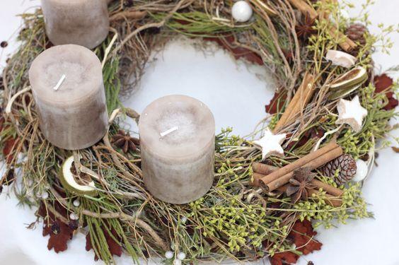 """Adventskranz - Adventskranz """"Kokosstern"""" - ein Designerstück von blumen-Design-by-Dueck bei DaWanda"""