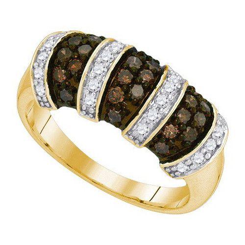 3/4CTW-Diamond FASHION BROWN RING