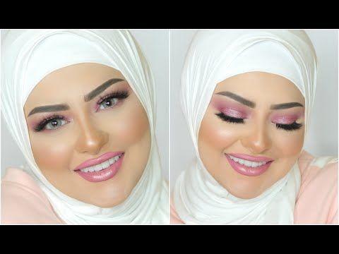 Pinky Look Makeup Tutorial Marwa Yehia مكياج وردي بسيط هادي وناعم مروة يحيي Youtube Makeup Forever Foundation Sephora Liquid Lipstick Nose Contouring