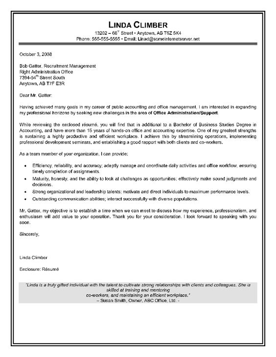 Administrative Assistant Cover Letter. Resume Cover Letter Samples