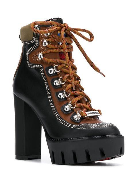 Dsquared2 Chunky Heel Hiking Boots