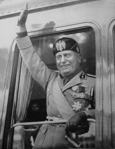 Image result for mussolini sails for libya