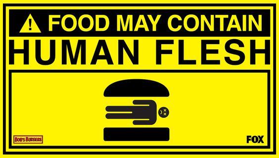 Food May Contain Human Flesh Poster
