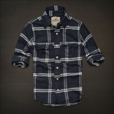 Hollister by abercrombie mens casual shirt flannel plaid m for Abercrombie mural