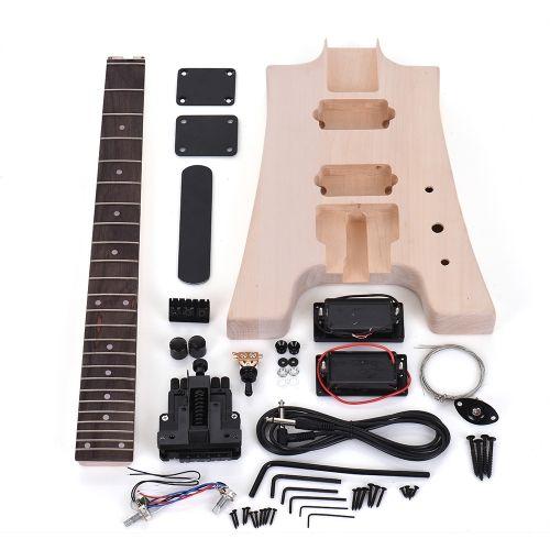 Ammoon Diy Electric Guitar Kit Without Headstock Guitar Kits Electric Guitar Kits Guitar Diy